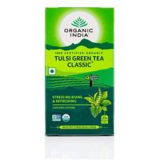 Lot of 2 Organic India Tulsi Green Tea Classic 50 Tea Bags Natural Basil Herbs