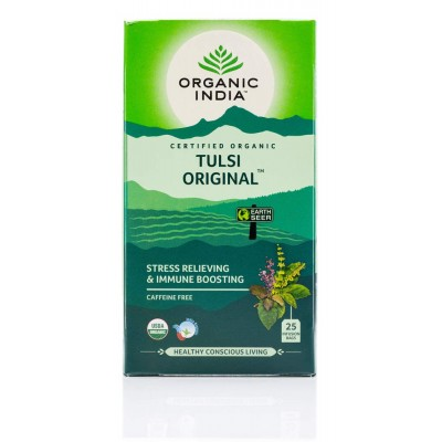 Lot of 4 Organic India Tulsi Original Tea 100 Tea Bags Ayurvedic Natural Health