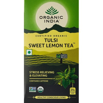 Lot of 4 Organic India Tulsi Sweet Lemon 100 Tea Bags Ayurvedic Natural Health