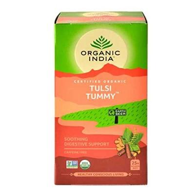 Lot of 4 Organic India Tulsi Tummy 100 Tea Bags Ayurvedic Natural Health Care