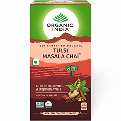 Lot of 2 Organic India Tulsi Masala Chai 50 Tea Bags Ayurvedic Natural Immunity