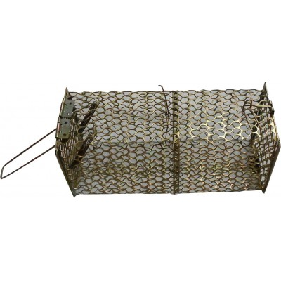 Metal Trap Cage Rat Squirrel Weasel Mouse Rodent Humane Catch Release No Touch