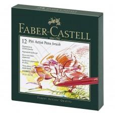 Pack of 12 Faber Castell Pitt Artist Color Pens kit Art Craft Draw Paint gift