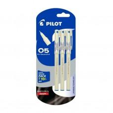 Pack of 3 Pilot Hi Techpoint 05 Pens BLUE INK 0.5 mm Fine Tip School Office Gift