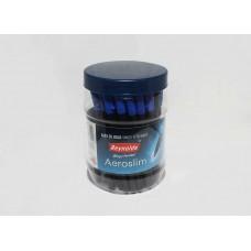 Reynolds Aeroslim Pen Jar of 50 Pens BLUE INK School Office Stationary Fine Tip