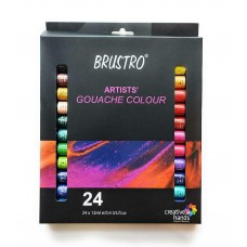 Set of 24 Colors X 12ML Tubes BRUSTRO Artists Gouache Color Art Craft Kit Gift