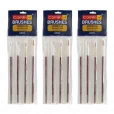 Set of 4 (Pack of 3) Total 12 pcs Camlin Paint Brush Synthetic Gold Round Brush