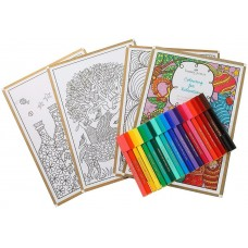 Faber Castell Coloring for Relaxation Kit Round (Assorted) Student School Gift