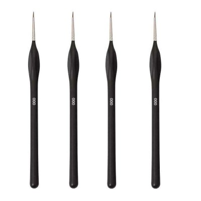 Galinpo 4 Pcs Paint Brushes Set for Fine Detailing Round Pointed Tip Nylon Hair