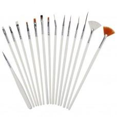 Lot of 15 pcs SYGA Acrylic Nail Art Design Painting Tool Pen Polish Brush Set