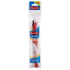 Lot of 20 Reynolds Liquismooth Ballpoint Pens Fine Tip 0.7mm RED Ink School Gift