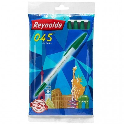 Lot of 30 Pens Reynolds 045 Fine Carbure 0.7 mm GREEN Ink Student Office Gift