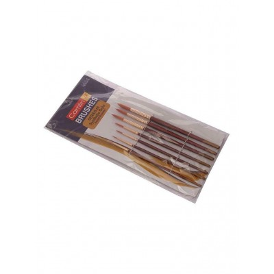 Lot of 7 Camel Paint Brush Series 66 Round Synthetic Gold art craft artist gift