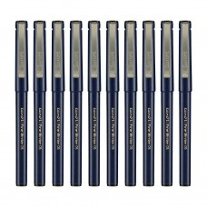 Pack of 10 Luxor Finewriter 0.5 mm fine tip Black Ink Pens School Office Kit