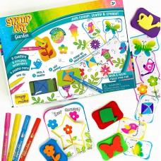 Creative Learning Knowledge Kit stamp art garden DIY kids art set 3+ years Gift