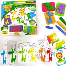 Creative Learning Activity Kit Stamp Art Jungle DIY Kids Art Set 3+ years Gift