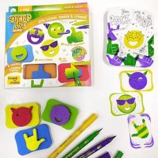 Creative Learning Activity Kit Stamp Art Smiley DIY Kids Art Set 3+ Years Gift