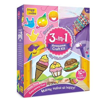 10+ Projects in 3 in 1 awesome craft kit set creative learning knowledge 5+ kid gift