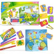 Creative Learning Knowledge Kit Stamp Art Animal Kingdom color DIY 3+ Kids gift