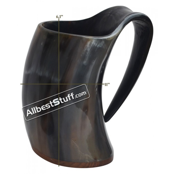 "BUFFALO HORN MEDIEVAL DRINKING MUG 6"" Set of 2 or More"
