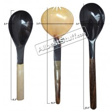 Set of 3 Horn Serving Spoon Medieval Cutlery Set