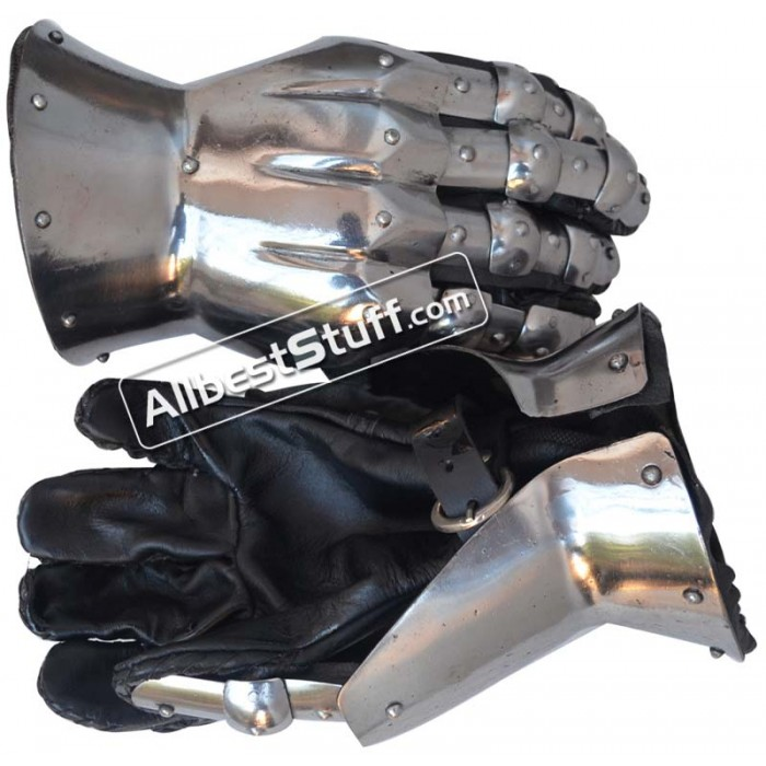 16 Gauge Medieval Knight Gauntlets Gothic Hourglass Gauntlets 14th Century