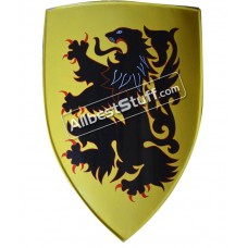 Crusader's shield 13th cent. Medieval Metal shield with Painted Dragon