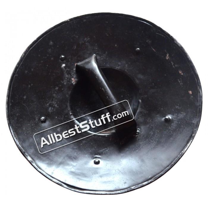 Medieval Armor Iron Steel Black Buckler Shield