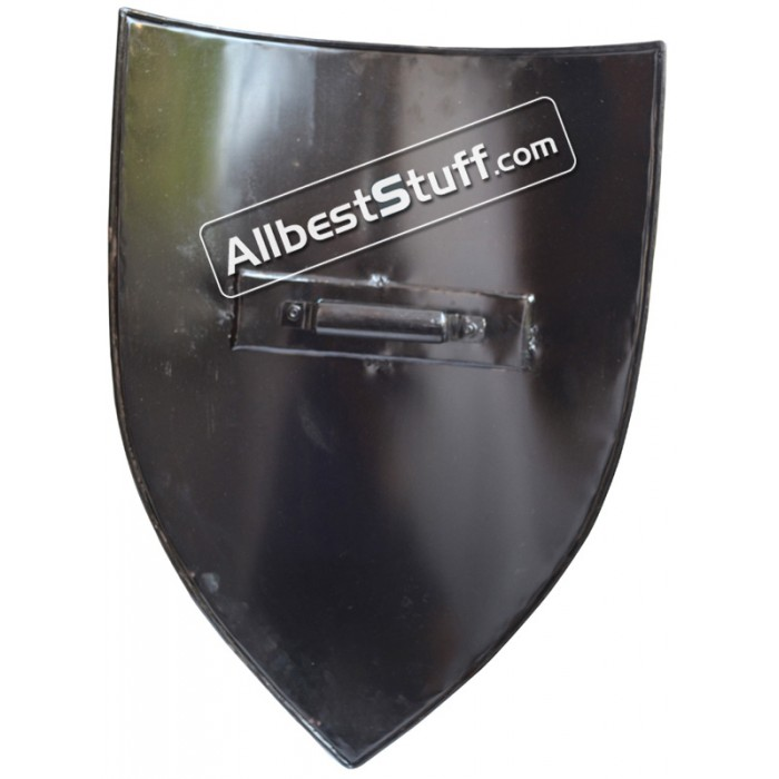 Crusader's shield 13th cent. Medieval Metal Shield Painted Black