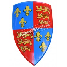 SALE! Medieval Shield Steel Painted Red and Blue