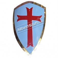 Medieval Shield Steel Painted Cross