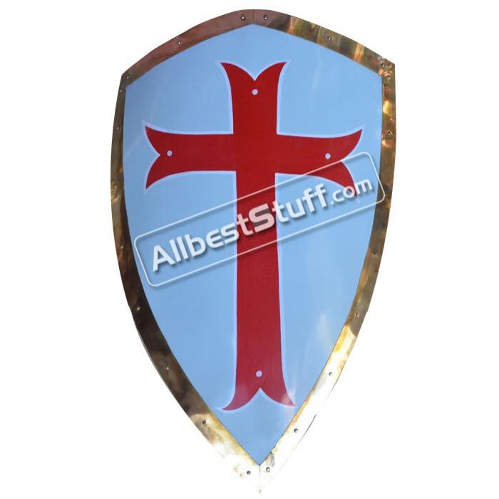 Medieval Shield Steel Painted Cross