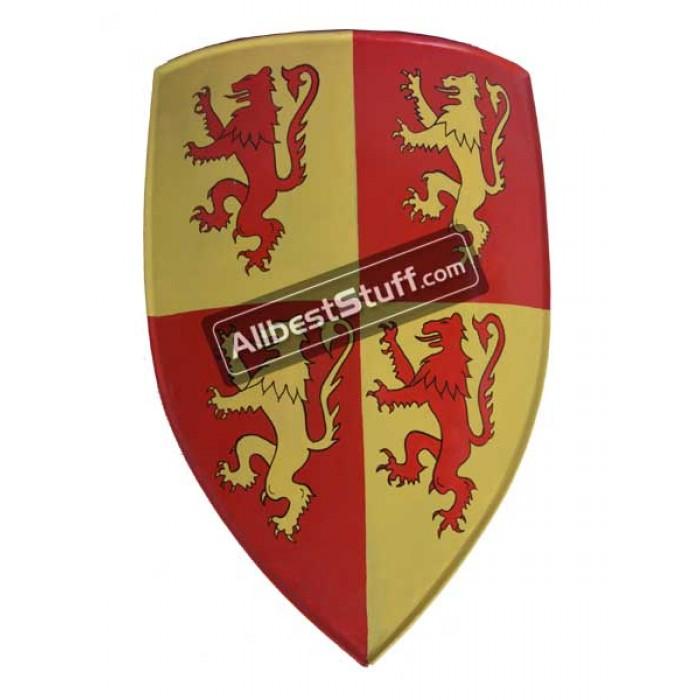 Medieval Metal Shield Crusader Shield Painted Metal