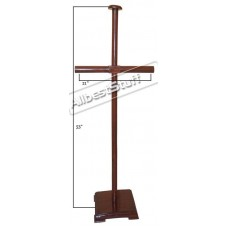 Extra Large Wooden Stand Brown For Lorica Segmentata Foldable Wooden Stand