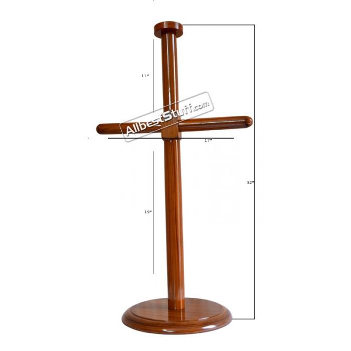 Wooden Lorica Segmentata Foldable Stand