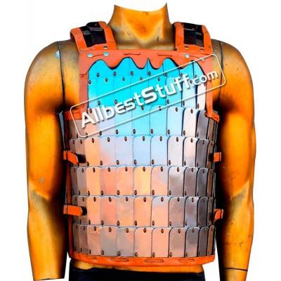 Medieval 18 Gauge Steel Lamellar Breastplate Armor
