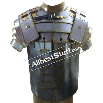 Roman Lorica Segmentata Armor Breastplate Costume Brass Lined Segmenta