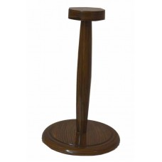 Wooden Helmet Foldable Stand For Medieval Armour Helmets Brown