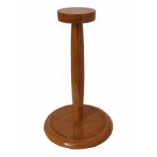 Wooden Helmet Stand For Medieval Armour Helmets Black