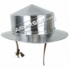 13th Century Kettle Hat Helmet made from 16 Gauge Steel