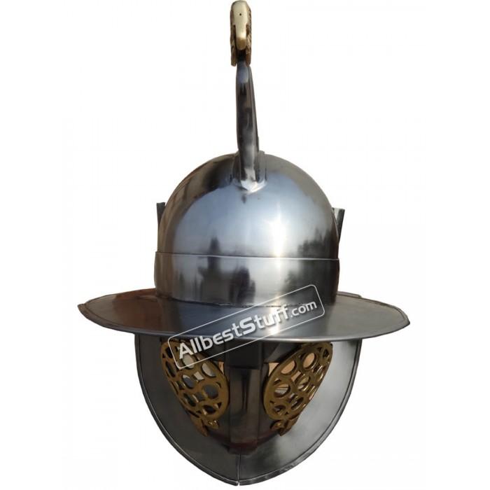 Roman Gladiator Helmet Heavy Duty 14 Gauge Medieval Thracian Helmet