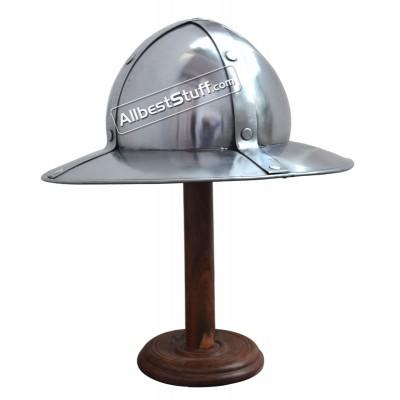 SALE! Antique Medieval Banded Kettle hat 1,6mm steel helmet