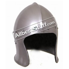 Battle Ready Medieval Italian Sallet made from Heavy 14 Gauge Steel