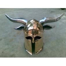 Brass Corinthian Viking Helmet 18 Gauge
