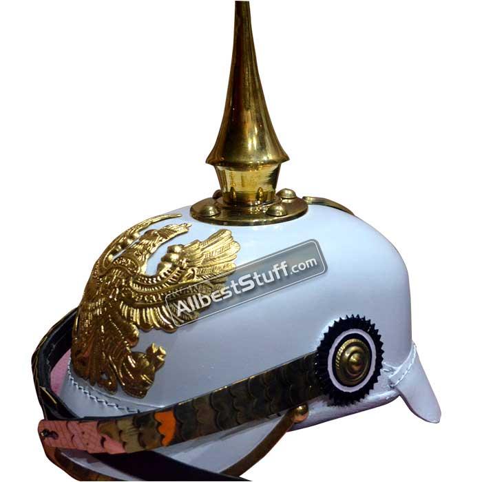 Helmet Pickelhaube Prussian White Officer Helmet