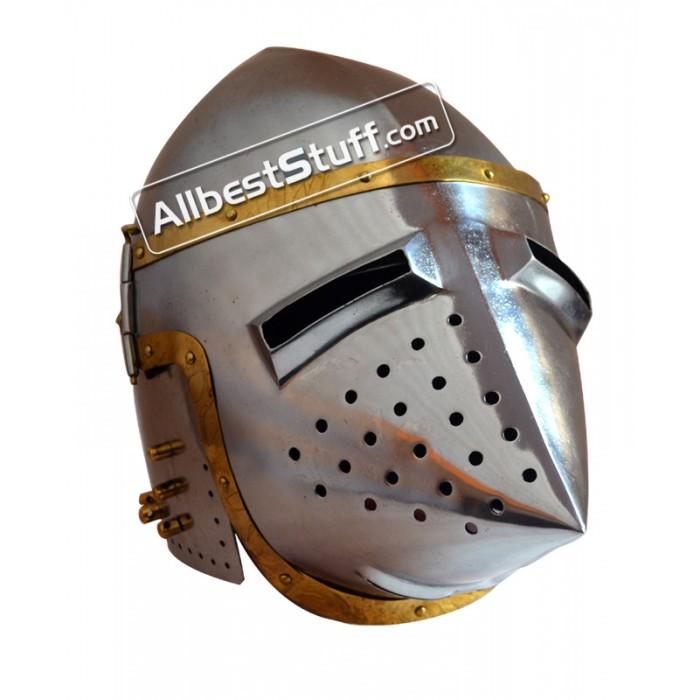 Medieval Armor Pig Faced Bassinet Hound skull Helmet
