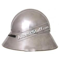 Late Medieval Kapalinhelm Helmet Heavy 14 Gauge Steel
