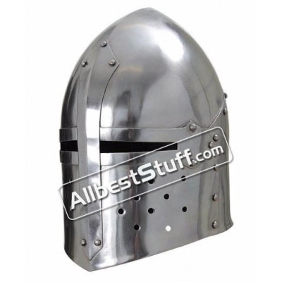 Light Weight Sugar Loaf Helmet 20 Gauge Steel LARP