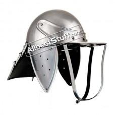 Medieval British Lobster Pot 18 Gauge Steel Helmet
