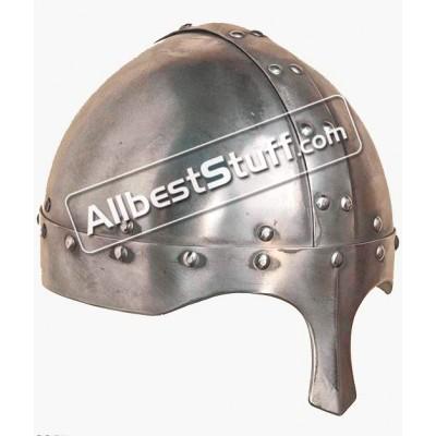 Medieval 12th Century Cervelliere Viking 14 Gauge Steel Helmet